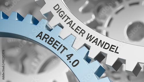 Digitaler Wandel / Arbeit 4.0 / Zahnrad
