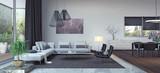 Living room, interior design 3D Rendering - 162252458