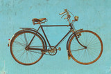Retro styled image of a vintage bicycle - 162253083