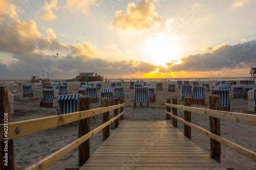 Nordsee Nordseeküste Strand Sandstrand Urlaub Sonnnenuntergang romantisch