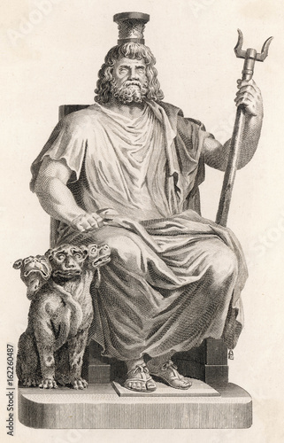 Classical Myth: the god Hades - Dis - Pluto. Poster
