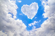 Quadro Heart shape of clouds