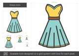 Dress line icon.