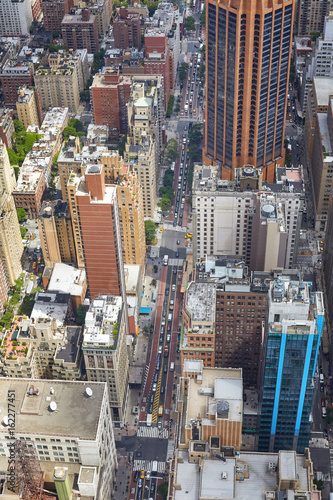 Aerial picture of crowded Manhattan, New York City, USA.