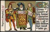 Medieval singers singing carols. Date: 1911 - 162280089