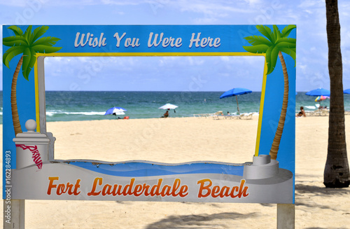 Fort Lauderdale Beach Wish you were here Poster