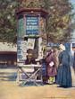 Paris - News Kiosk - 20th century. Date: early 20th century