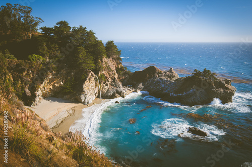 McWay Falls at sunset, Big Sur, California, USA - 162288462