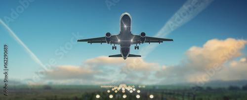 Fototapeta Flugzeug startet