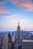 Sunset view  New York City from midtown Manhattan - 162293655