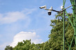 Profesjonalne kamery monitoringu CCTV na maszcie. Kamera obrotowa.