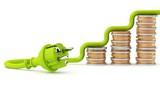 Grüner Stecker - Entwicklung der Strompreise - 162299074