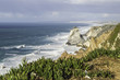 The Atlantic ocean  landscape with  cliffs  and rocks of Cabo da Roca,the western  point of Europe,Portugal.