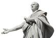 Quadro Cicero, ancient roman senator statue (isolated on white background)