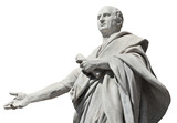 Cicero, ancient roman senator statue (isolated on white background) - 162309211