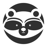 Animal raccoon cartoon icon vector illustration design graphic