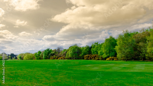 Foto op Aluminium Groene Cloudy day over Wimbledon Common, England