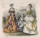 Polonaise Dresses 1868. Date: 1868