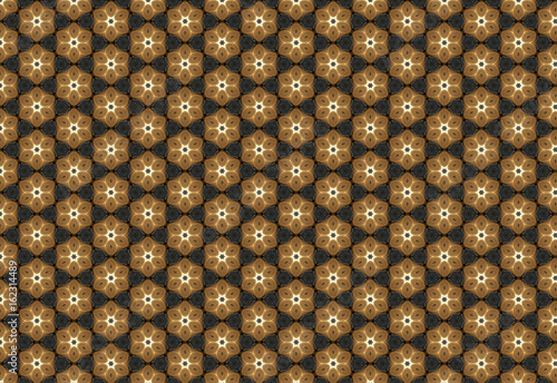 Brown flower background pattern - 162314489