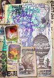 Manoscritti misteriosi con disegni,tarocchi,ritagli e collage esoterici,astrologici e alchemici - 162319438