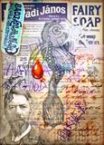 Manoscritti misteriosi con disegni,tarocchi,ritagli e collage esoterici,astrologici e alchemici - 162319492