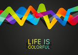 Abstract background with rainbow design element