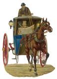 Fototapety Hansom Cab Scrap. Date: late 19th century