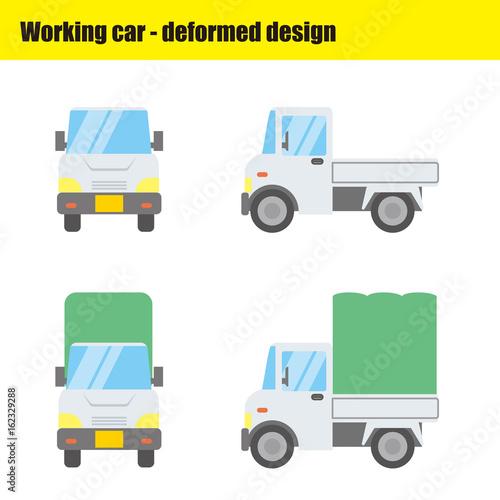 働く車のイラスト|軽自動車・トラック - 162329288