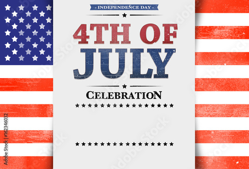 flyer template invitation 4th of july stars and stripes usa flag