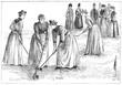 Girls Hockey 1890. Date: 1890