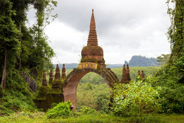Temple in the jungle thailand
