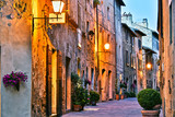 Architecture of historic center of Pienza in Tuscany, Italy.