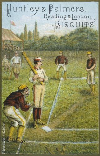 Baseball 1878. Date: circa 1878 Poster