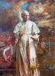 ROME, ITALY - MARCH 9, 2016: The paint of St. John Paul II. in church Basilica di Santa Maria del Popolo by Natalia Tsarkova 2006.