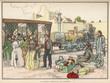 French Train Passengers. Date: circa 1837