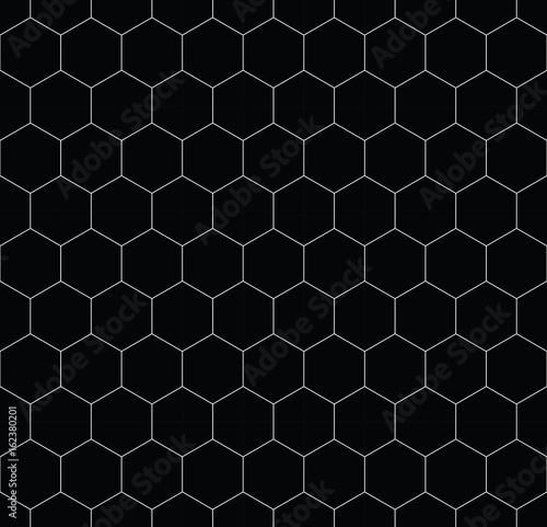 geometric hexagon minimal grid graphic pattern background - 162380201