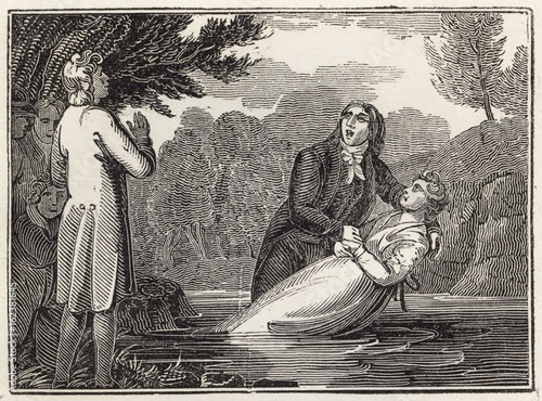 Baptism. Date: 1820 Poster