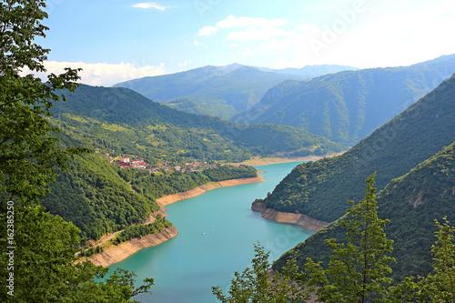 Fototapeta Beautiful lake in the mountains of Montenegro