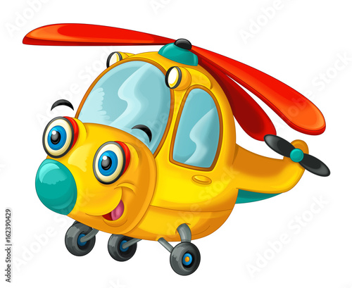 Cartoon helicopter - illustration for the children - 162390429