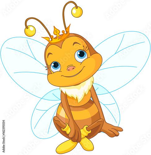 Foto op Aluminium Meisjeskamer Cute Queen Bee