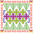 Cross Stitch Embroidery floral design for seamless pattern texture