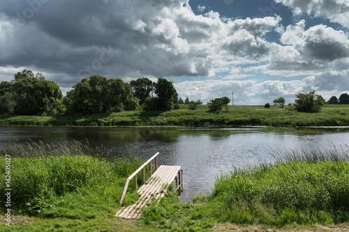 River Venta at Skrunda, Latvia.