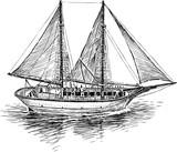 Fishing boat in the sea - 162428443