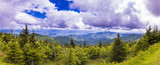 Appalacian mountains panorama taken from Clingmans Dome in North Carolina