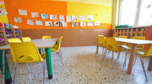 inside a classroom of the school