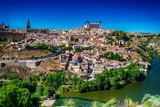 Aerial widok z góry Toledo, historycznej stolicy Hiszpanii