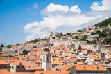 A view over the old town from the town walls of Dubrovnik, Croatia. - 162439284