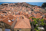 A view over the old town from the town walls of Dubrovnik, Croatia. - 162440277