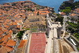 A view of the old town, Dubrovnik, Croatia, seen from the Minceta Tower. - 162440401