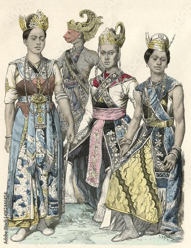 Javanese Actors. Date: circa 1880 Poster